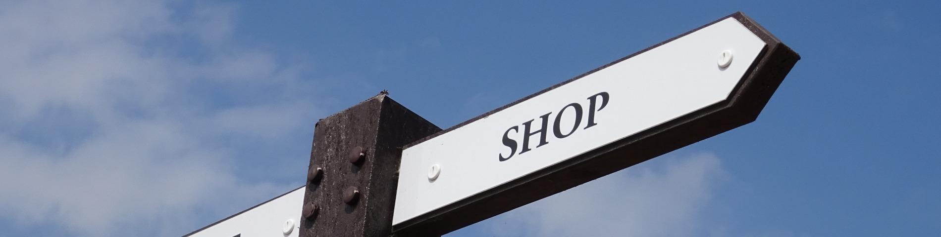 Online shop banner